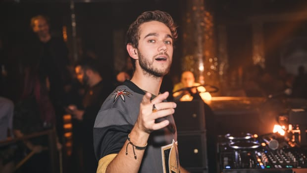A photo of German DJ/producer Zedd during a performance courtesy of RUKES.