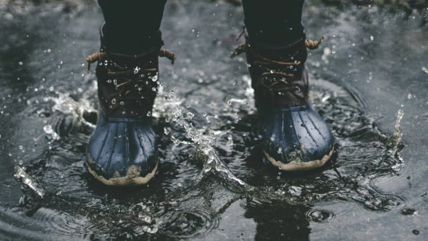 Boots in puddle