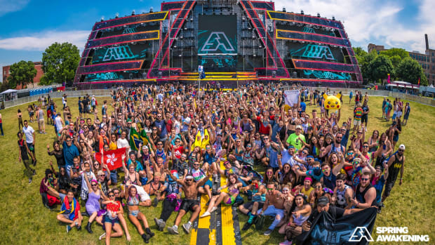 Spring Awakening Music Festival crowd photo.