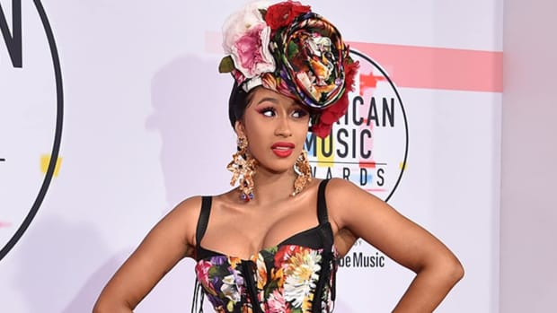 Cardi B wearing a corset at the American Music Awards.