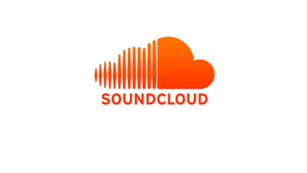SoundCloud logo orange over white background.