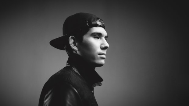 Black-and-white headshot of EDM DJ/producer Gryffin A.K.A. Dan Griffith.
