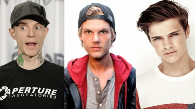 Deadmau5, Avicii, and Martin Garrix (Left to Right)