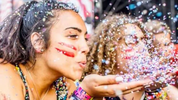 Girls Confetti Music Festival
