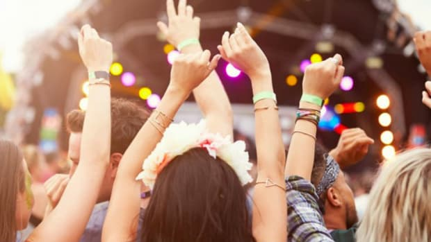 Music Festival Hands Up