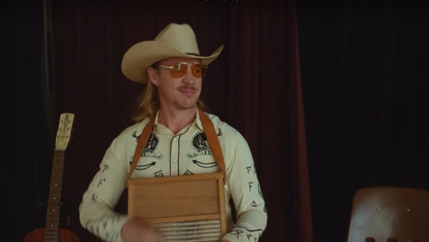 "Diplo in the music video for ""Old Town Road"" by Lil Nas X."