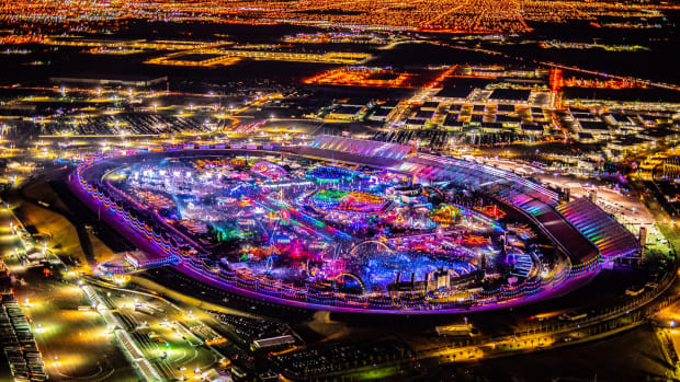EDC Las Vegas 2019 aerial shot
