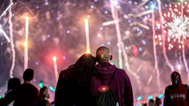 EDC Las Vegas 2019 Couple Firework