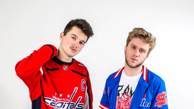 LZRD Press Photo w/ Washington Capitals Jersey for Proximity release