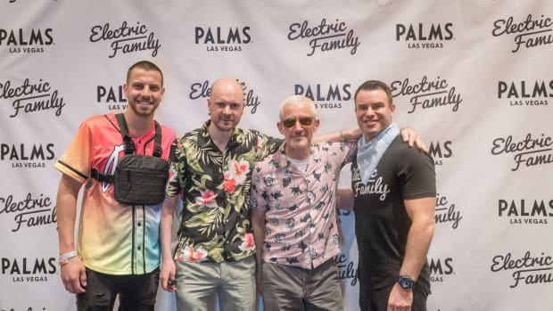 Electric Family Artist Meet & Greets - Founders Steve Brudzewski & Andrew Nilon Pose with Above & Beyond