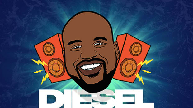 Artwork for the Shaq/Shaquille O'Neal/DJ Diesel Encore Beach Club Summer League tour giveaway.