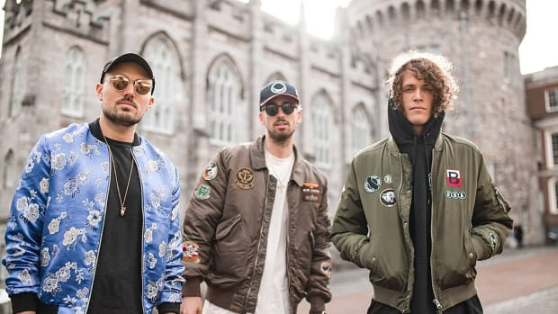 Cheat Codes Electrionic Trio Press Photo - Cool Jackets With Castle In Background