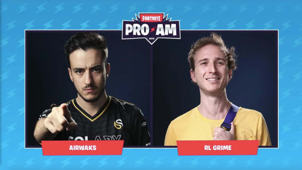 An image of Airwaks and RL Grime, the two Celebrity Pro-AM winners at Fortnite Summer Block Party