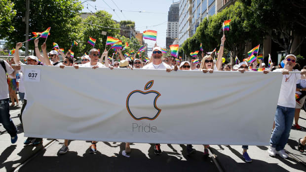 Pride Parade With Apple Music Banner (Supported by Tim Cook)
