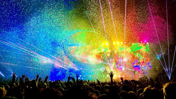 June 2019 EDM Playlist Cover Colorful Festival