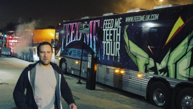 Tour Bus From Feed Me Teeth Tour 2012 (Feed Me UK Tour)