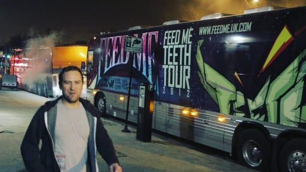 Tour Bus From Feed Me Teeth Tour 2012 (Feed Me UK Tour)