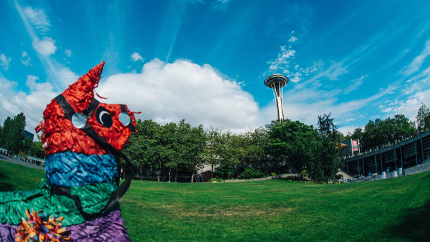 Dillon Francis in Seattle for AMFAMFAMF + Pinata (Space Needle)