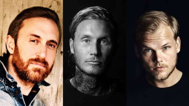 David Guetta, Morten, and Avicii