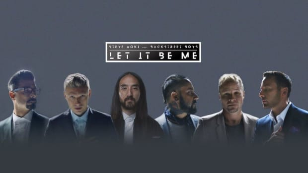 "Artwork for Steve Aoki and the Backstreet Boys' ""Let It Be Me"" courtesy of Ultra Music."