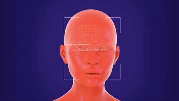 A frame from the animation on Ban Facial Recognition's website.