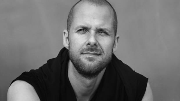 Black-and-white head shot of techno DJ/producer and Drumcode label boss Adam Beyer.