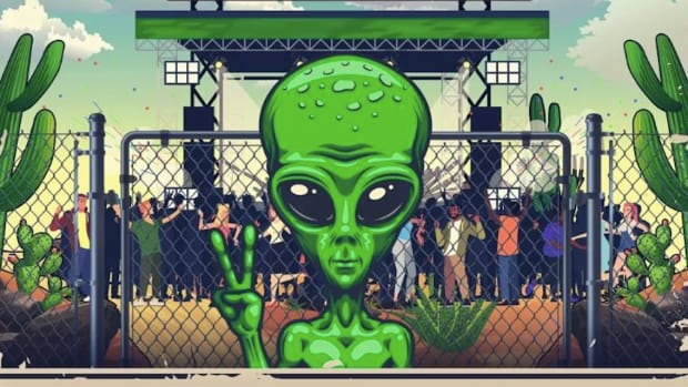 The image from the Storm Area 51 festival Alienstock's flyer.
