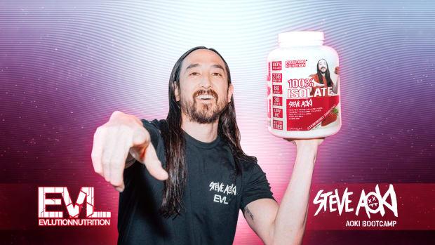Steve Aoki - EVLSports - Steve Aoki Bootamp - Strawberry-shortcake Protein Powder