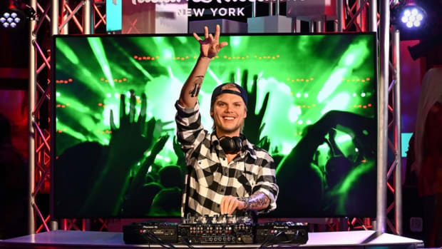 Avicii wax statue at Madame Tussauds NYC