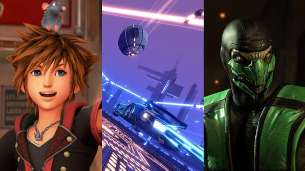Kingdom Hearts III, Rocket League, Mortal Kombat