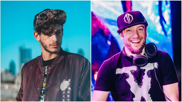 Subtronics and Excision (left to right).