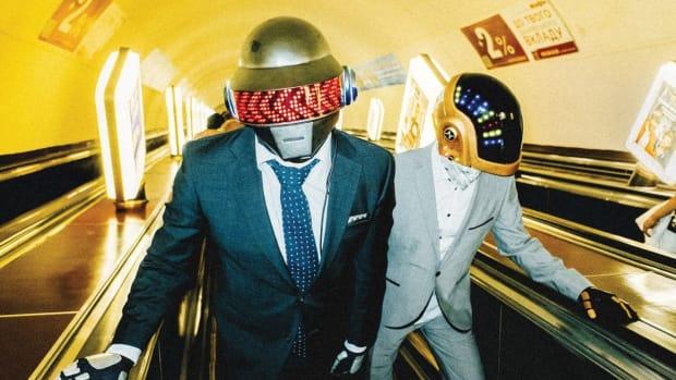 Daft Punk impersonators Taft Plunk.