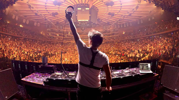 Armin van Buuren performing at Madison Square Gardens in NYC in March of 2013.