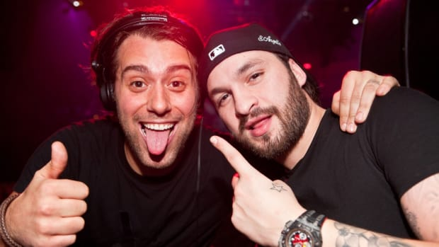 A photo of DJ/producers Steve Angello and Sebastian Ingrosso of Swedish House Mafia courtesy of Rukes.