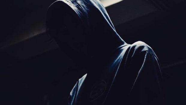 A press photo of anonymous DJ/producer Bonez.