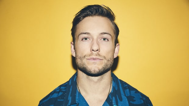 A color head shot of L.A. DJ/producer Party Favor.