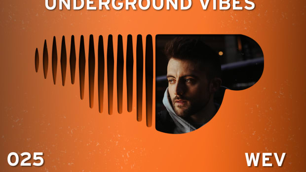 Underground Vibes 025 cover with a press photo of wev.