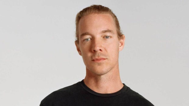 A color headshot of DJ/producer and Mad Decent label boss Diplo (real name Thomas Wesley Pentz Jr.).