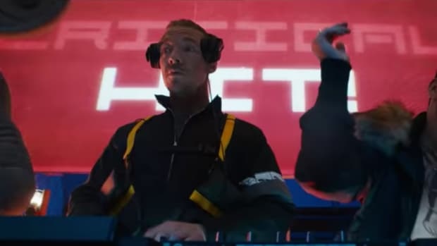 A still image of the cameo made by Diplo (real name Thomas Wesley Pentz Jr.) in POKÉMON Detective Pikachu.