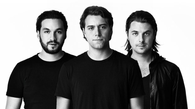 Swedish House Mafia black-and-white group headshot.