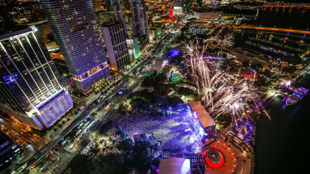Miami Music Week / Ultra - Miami Nighttime Cityscape