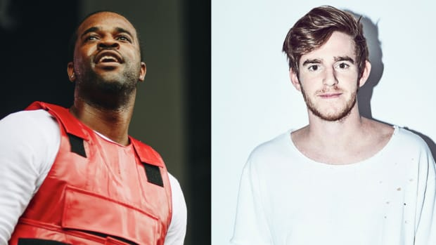 A split screen photo of A$AP Ferg and NGHTMRE.