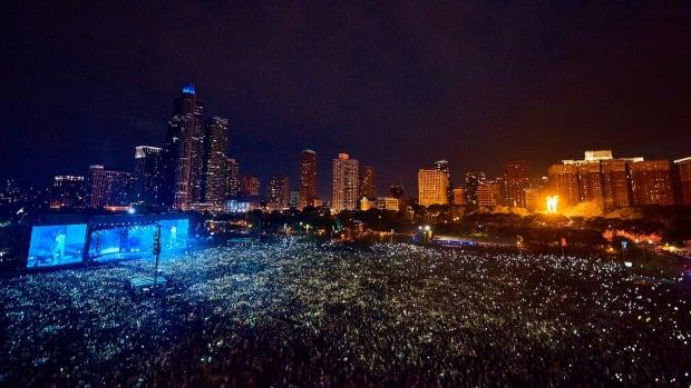 Lollapalooza overhead.