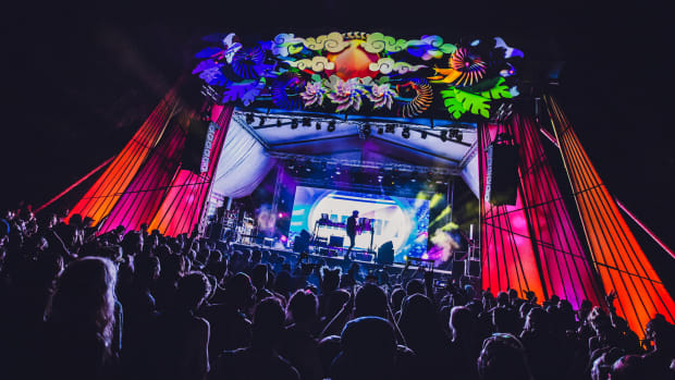 A photo of GRiZ playing the Sol Stage at Envision Festival courtesy of Tyler Allix.