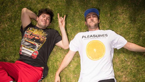 "Two Friends - Press Photo for ""Dollar Menu"" EP on Dim Mak Records (EDM.com Feature)"