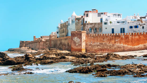 A photo of the Essaouira coastline where Game of Thrones is filmed and Moga Festival takes place.