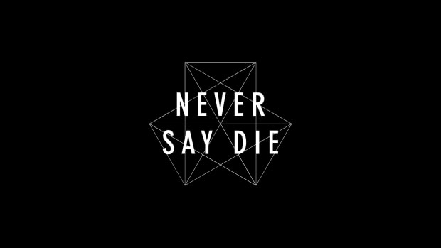 Never Say Die logo