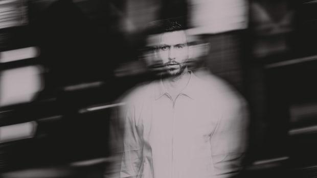 Calvin Harris' black-and-white 2020 press photo.