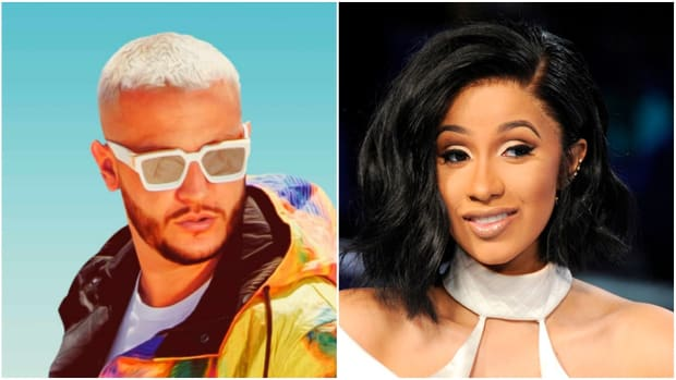 DJ Snake and Cardi B (from left to right).