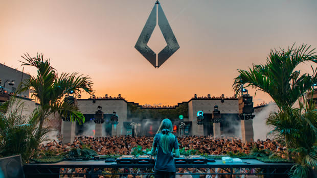 Nora En Pure performing during sunset at Purified, Brooklyn Mirage